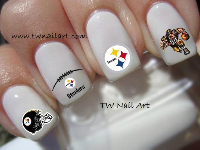 Pittsburg Steelers Nail Decals Twnailart