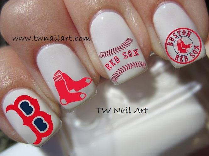 Boston Red Sox Nail Decals By Twnailart On Zibbet