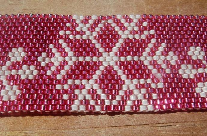 Pink Snowflake Bracelet