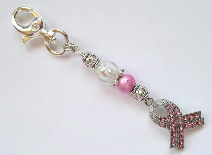 Breast Cancer Awareness Jewelry with lobster clasp