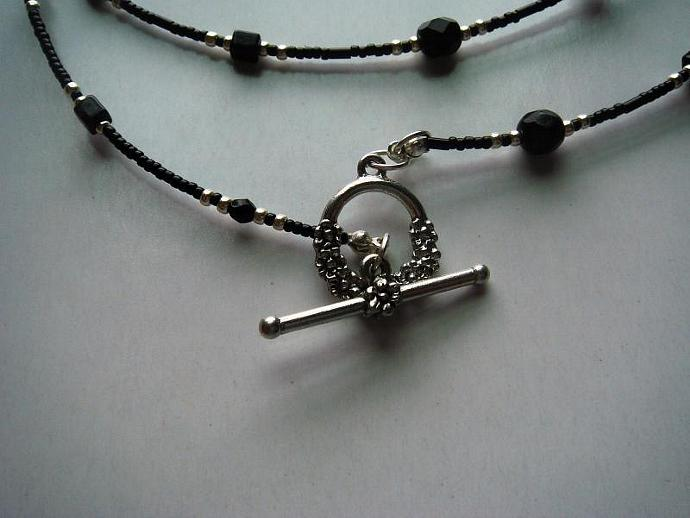 Black & Silver Bracelet/Anklet