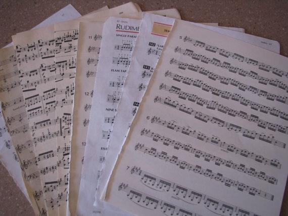 Vintage Music Paper- Bulk Lot