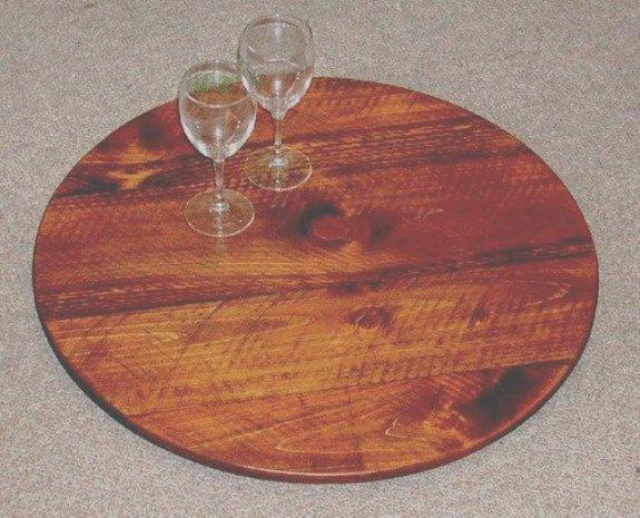 Lazy Susan's - Wine Barrel Look - Wine Barrel Staves - Handmade