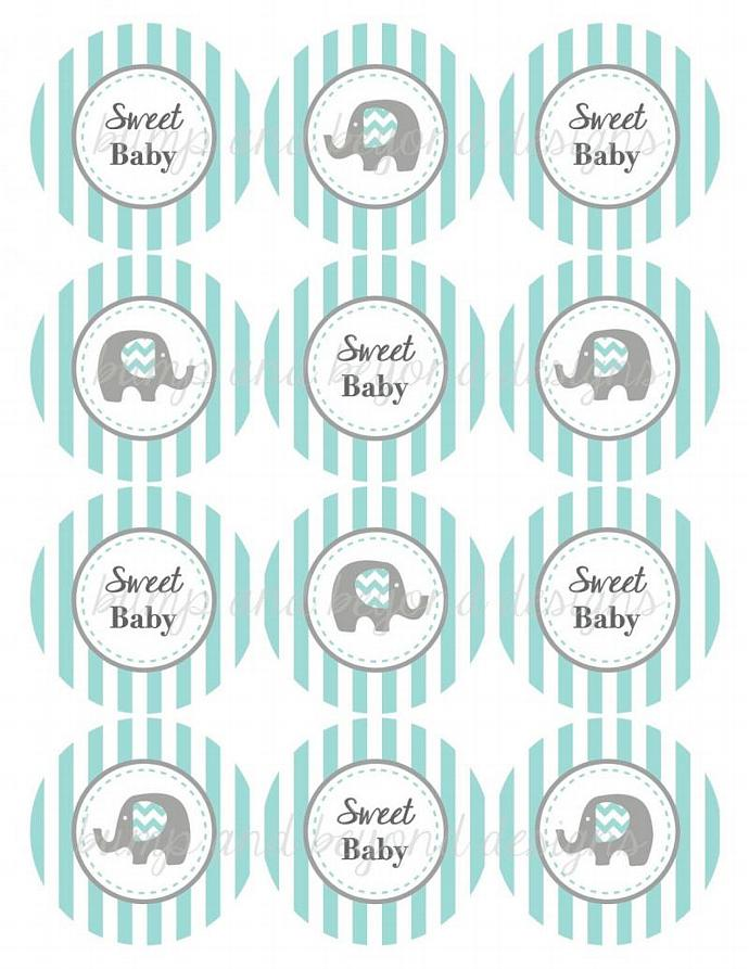 Sweet Baby Elephant Baby Shower Party bumpandbeyonddesigns