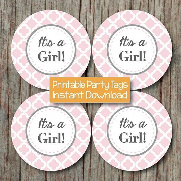 Its a Girl Printable Baby Shower by bumpandbeyonddesigns on