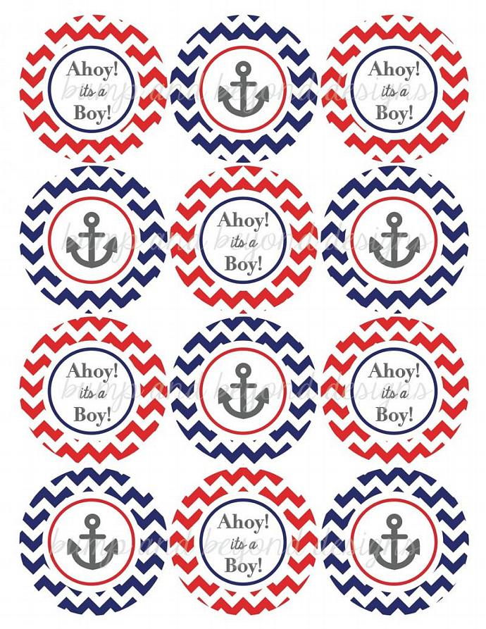 Ahoy Its A Boy Baby Shower Decorations