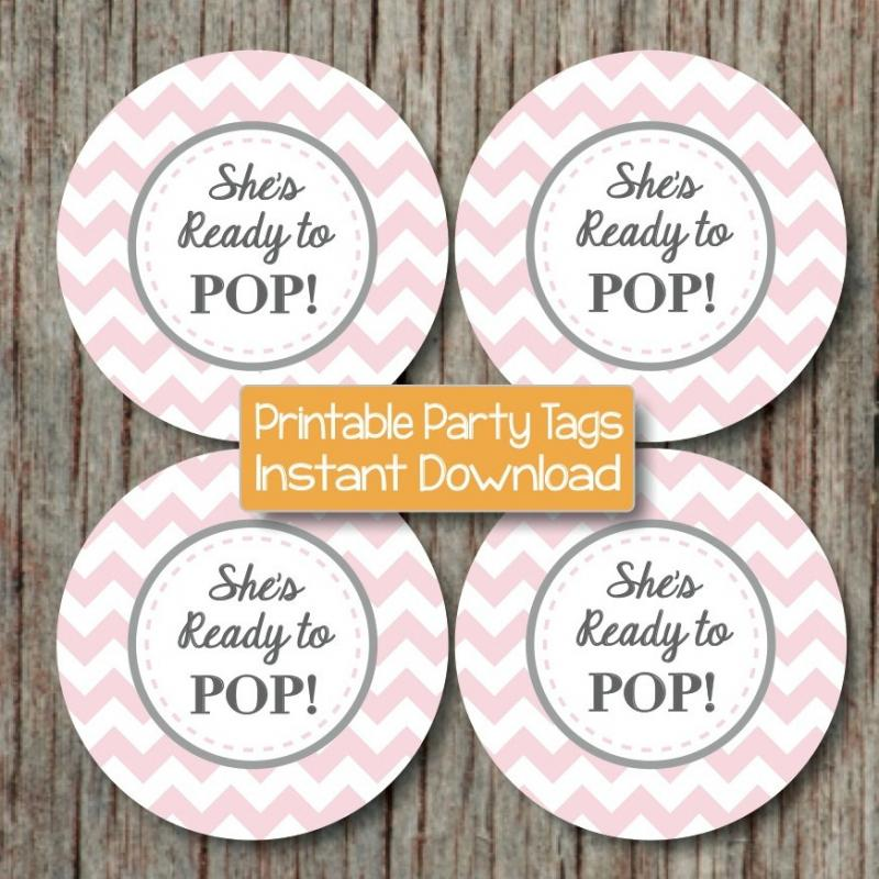 Ready To Pop Baby Shower Printable By Bumpandbeyonddesigns On Zibbet
