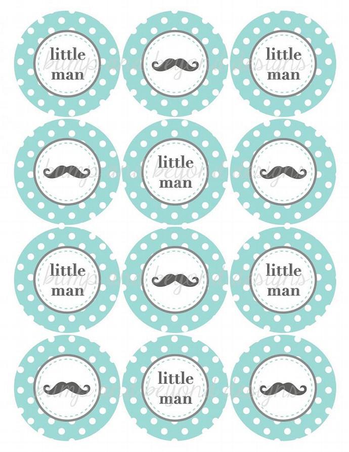 Mustache Party Printables Little Man Bumpandbeyonddesigns