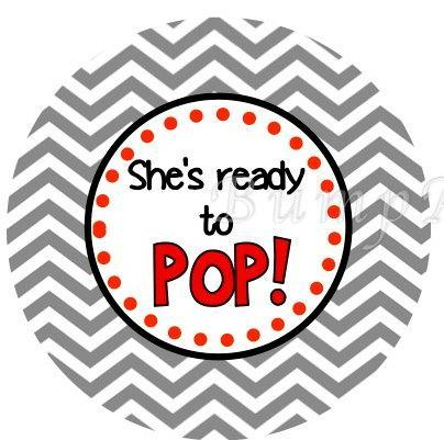 Baby Shower Digital Printable She's Ready to Pop Party Favor Tags Cupcake