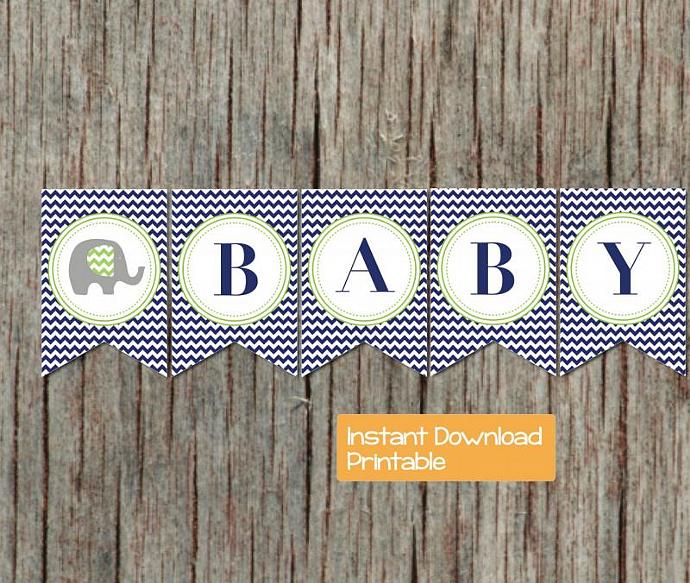 picture relating to Printable Baby Shower Banners identified as Child Shower Decorations Printable Boy or girl Shower Banner Military services Blue Lime Environmentally friendly Elephant Electronic Do it yourself Oh Little one Boy Youngster Shower Get together 044