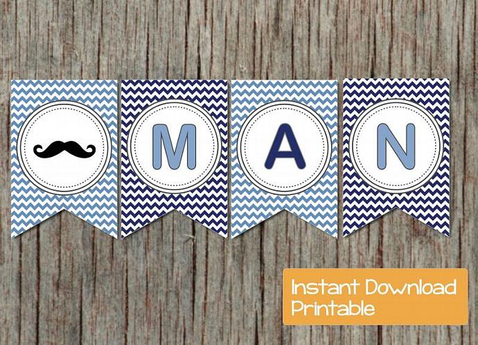 Digital Mustache Baby Shower By Bumpandbeyonddesigns On Zibbet