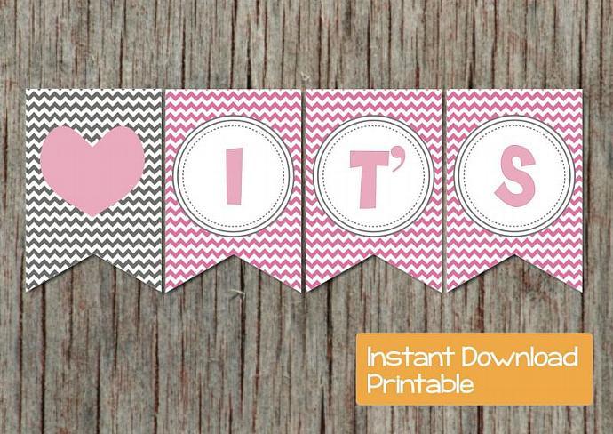 Digital Girl Baby Shower Banner Gum By