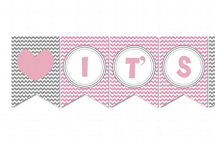 photo about Free Printable Baby Shower Banner titled it s a woman banner printable -