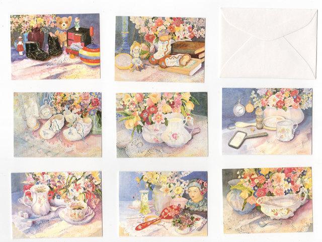 Gift Cards & envelopes, memories, set of 8, 2 x 2 7/8, 4.000