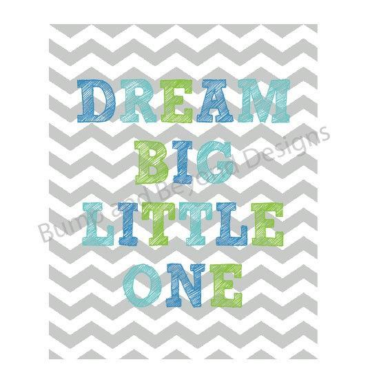 NURSERY WALL ART Nursery Decor Baby Boy Printable Wall Art Dream Big Little One