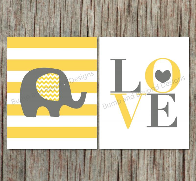 Elephant Wall Decor Nursery Wall Art | bumpandbeyonddesigns