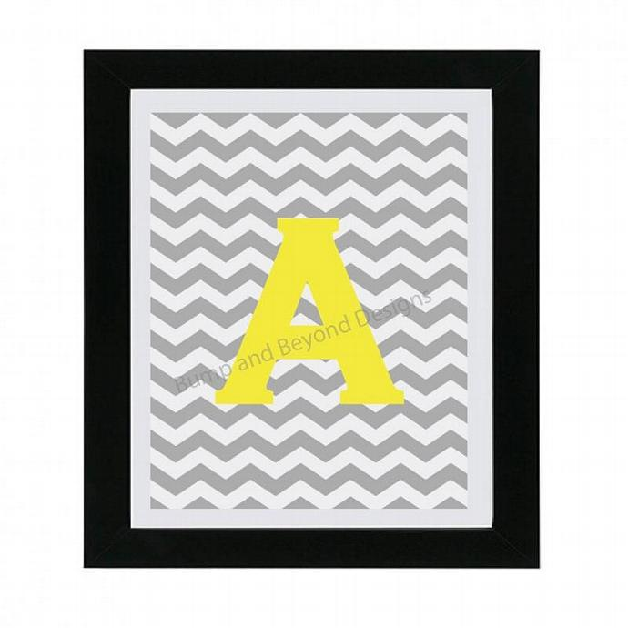 Printable Letter Art NURSERY WALL ART Nursery Decor Initial Monogram Digital Boy