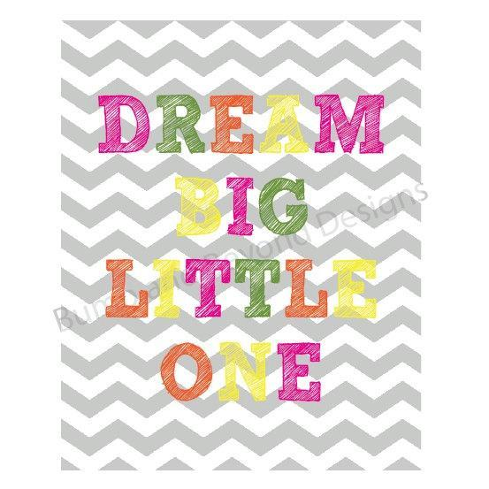 NURSERY WALL ART Nursery Decor Printable Wall Art Baby Girl Dream Big Little One
