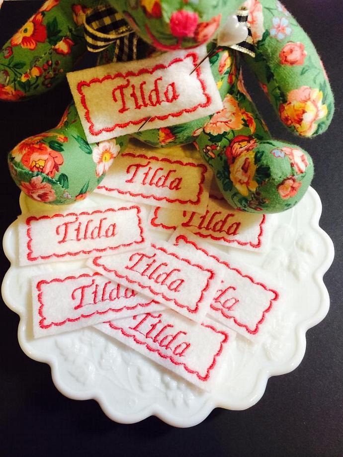 Tilda Felt Labels (5)