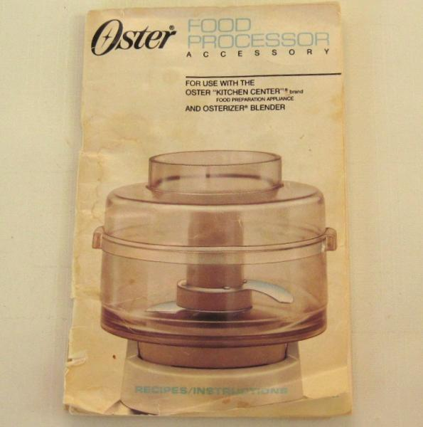Oster food processor accessory instruction by lauraslastditch on oster food processor accessory instruction manual recipe booklet 5900 from forumfinder Image collections