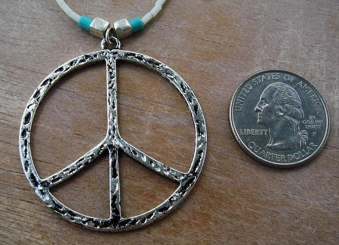 Peace & Turquoise Necklace