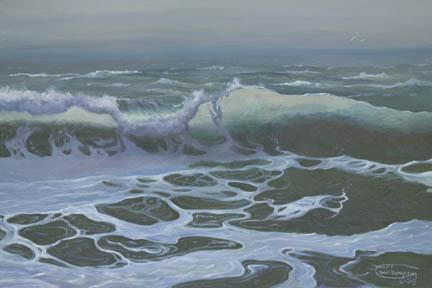 """Choppy Water"" Giclee Paper Print by Carol Thompson"