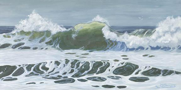 """Cresting Wave"" Giclee Paper Print by Carol Thompson"