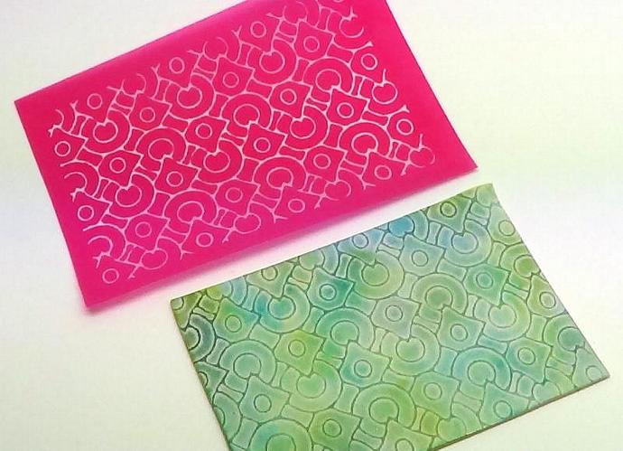 Circles and Diamonds Silkscreen for polymer clay, paper and fabric