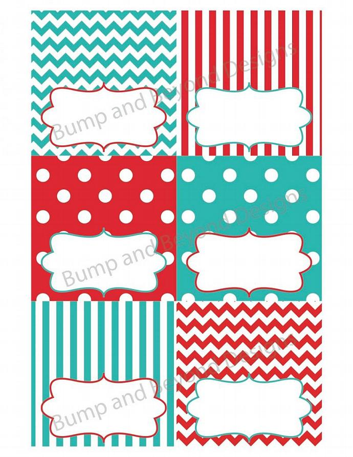 Food Tent Cards Printable Party Decorations Digital diy Food Tent Cards Labels