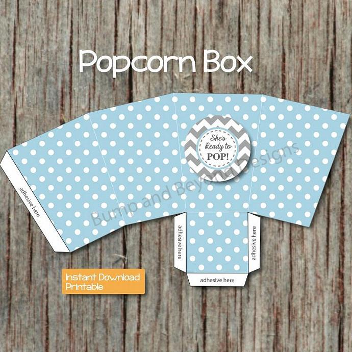 Baby Shower She's Ready to Pop Favors Popcorn Boxes diy Snack Treat Boxes