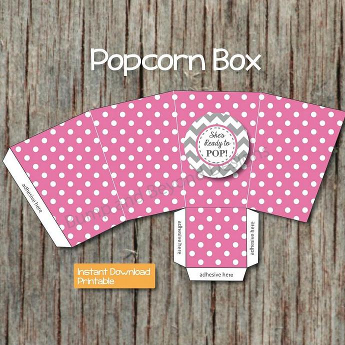photograph regarding Printable Popcorn Boxes identified as Do-it-yourself Popcorn Box Printable Box Kid Shower Favors Sweet Address Box Shes Organized towards Pop Gum Crimson Popcorn Containers Electronic 008