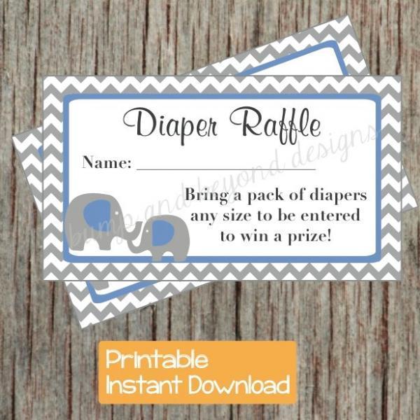 free printable diaper raffle tickets