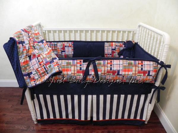 Custom Crib Bedding Set Christopher Multi By Babybedding On Zibbet