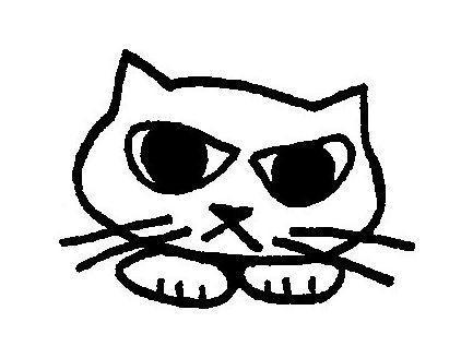 Bead loomed kitten pendant - A HeatherKitten