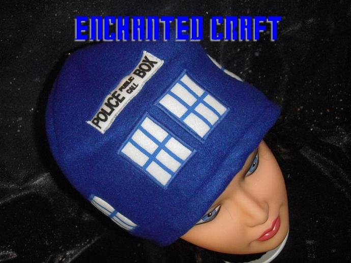new version Warm and soft Fleece Dr Who? TarDiS beanie hat
