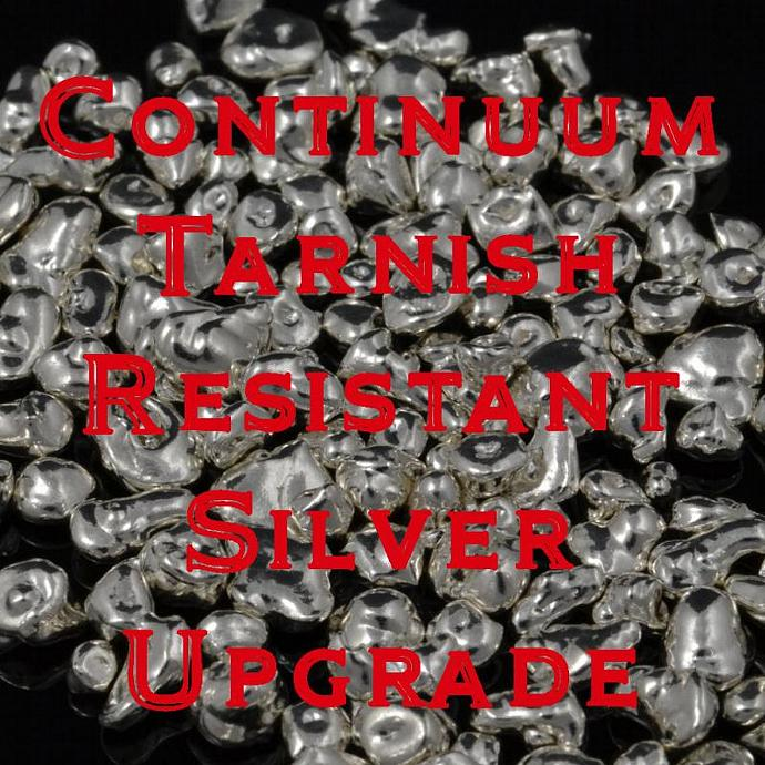 Upgrade to tarnish resistant sterling silver