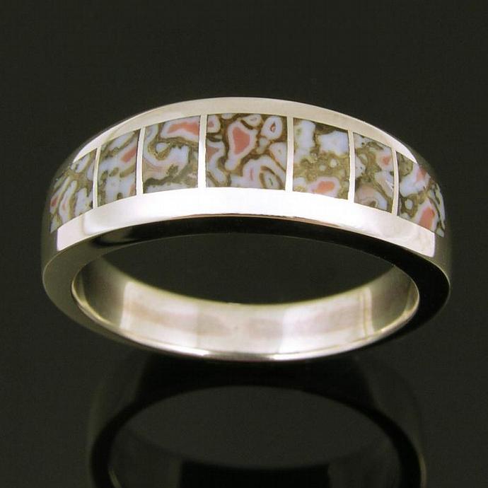 Dinosaur Bone Ring in Sterling Silver