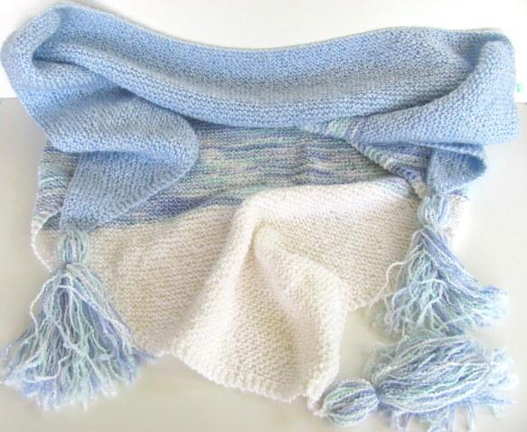 Blue Skies Shawl Scarf FREE US Shipping