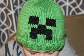 Minecraft Creeper Hand Knit Hat by MariesHandmadeKnits on Zibbet 6b4002408ae