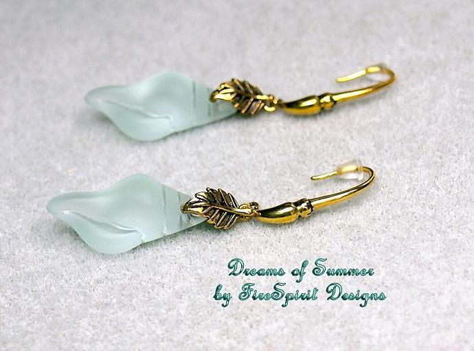 Dreams of Summer- handmade OOAK beaded earrings