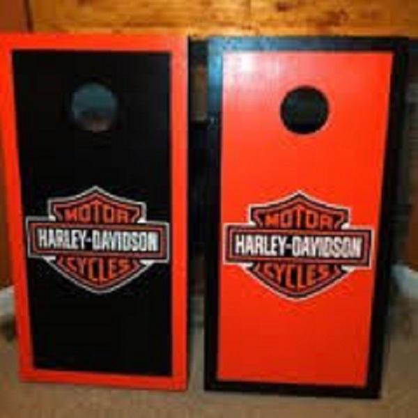 Harley Davidson Nashville >> Harley Davidson Cornhole Boards by Chesterswoodworking on ...
