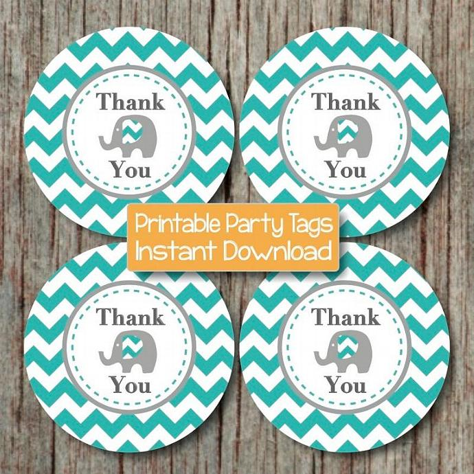 photo relating to Printable Thank You Tags identified as Aqua Gray Elephant Printable Thank By yourself Tags Child Shower Desire Tags Electronic do-it-yourself Youngster Shower Present Bag Tags Get together Products Boy 093