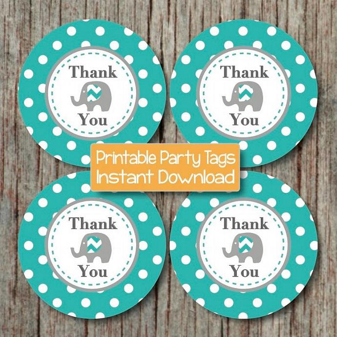 picture relating to Printable Thank You Tags named Electronic Thank Your self Want Tags Aqua Gray Elephant Printable Thank Your self Tags Youngster Shower do-it-yourself Stickers Little one Shower Social gathering Products Boy 94