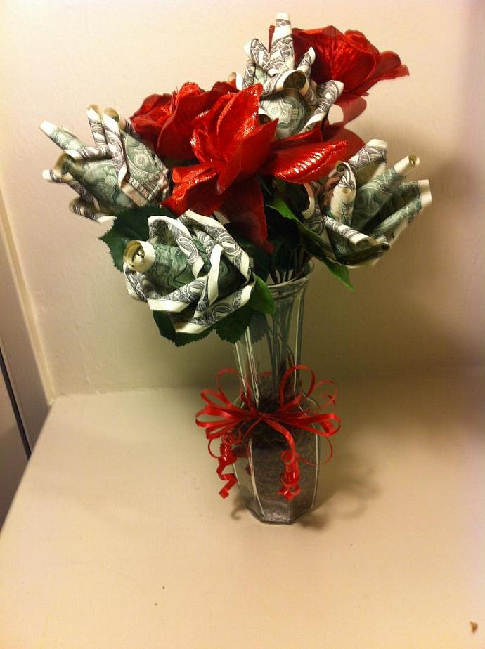 Money Origami Rose Bouquet By Flora4love On Zibbet