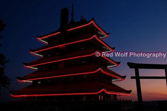 Pagoda At Sunset Photo Print