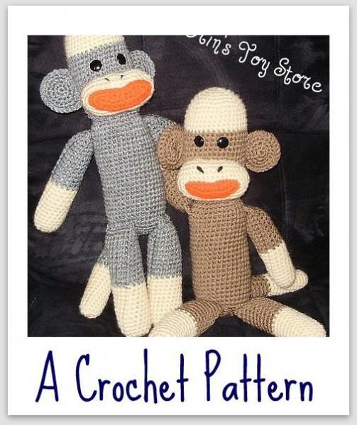 Sock Monkey A Crochet Pattern By Erin Scull By Erinstoystore On Zibbet