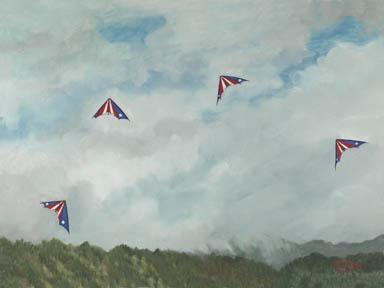 """Hawaiian Team Flight"" Giclee Paper Print by Carol Thompson"