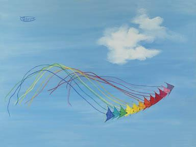 """Hyperkites"" Giclee Paper Print by Carol Thompson"