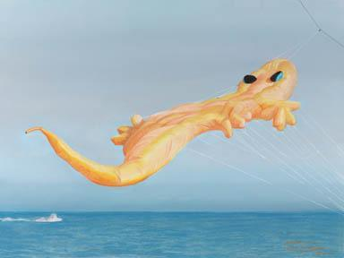 """High Flying Gecko"" Giclee Paper Print by Carol Thompson"