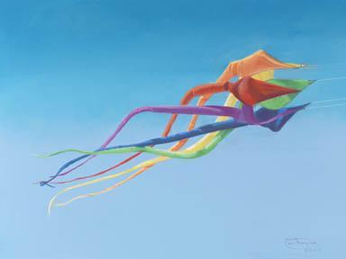 """""""Jellyfish Spinner"""" Giclee Paper Print by Carol Thompson"""